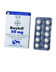 Antibacteriano Baytril® tabletas 50 mg