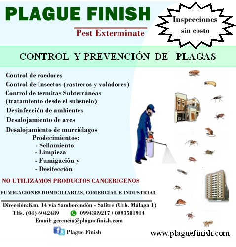 A. Plague Finish Control de Plagas, Empresa, Guayaquil